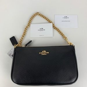New Coach Nolita Black Leather Wristlet